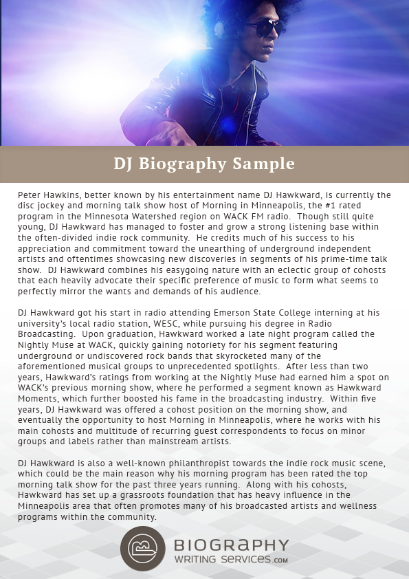 tips for writing an impressive dj bio finest bio experts