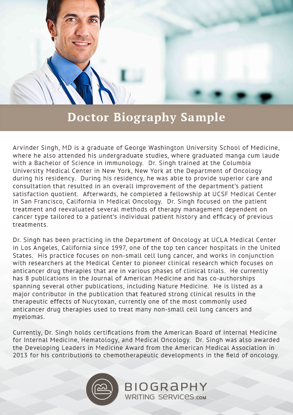 military biography template - dentist biography surgeon biography all doctors bios