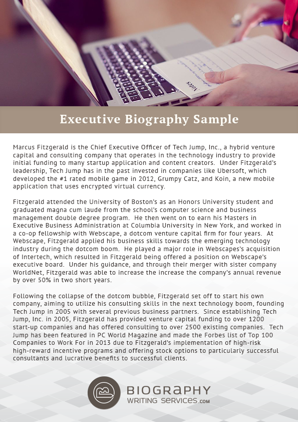 the biography of a successful manager essay Becoming a financial manager is one of the most challenging career paths, due to the extremely specialized nature of the field aspiring managers start by earning bachelor's and master's degrees in their specialty.