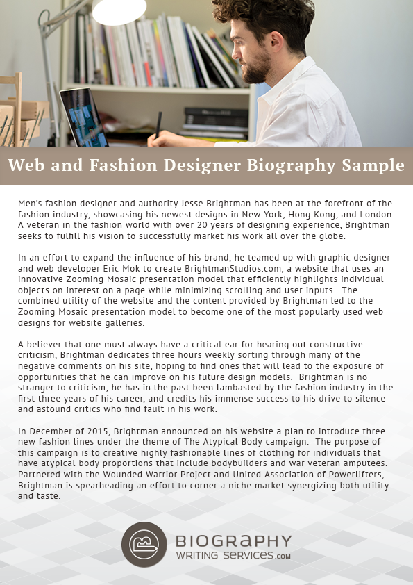 Web And Fashion Designers Biography