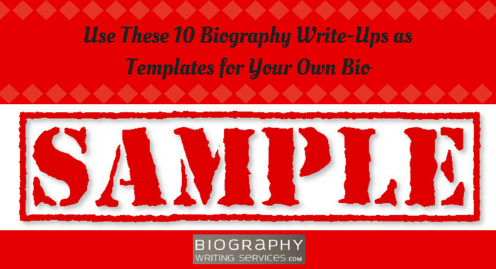 best biography writing template