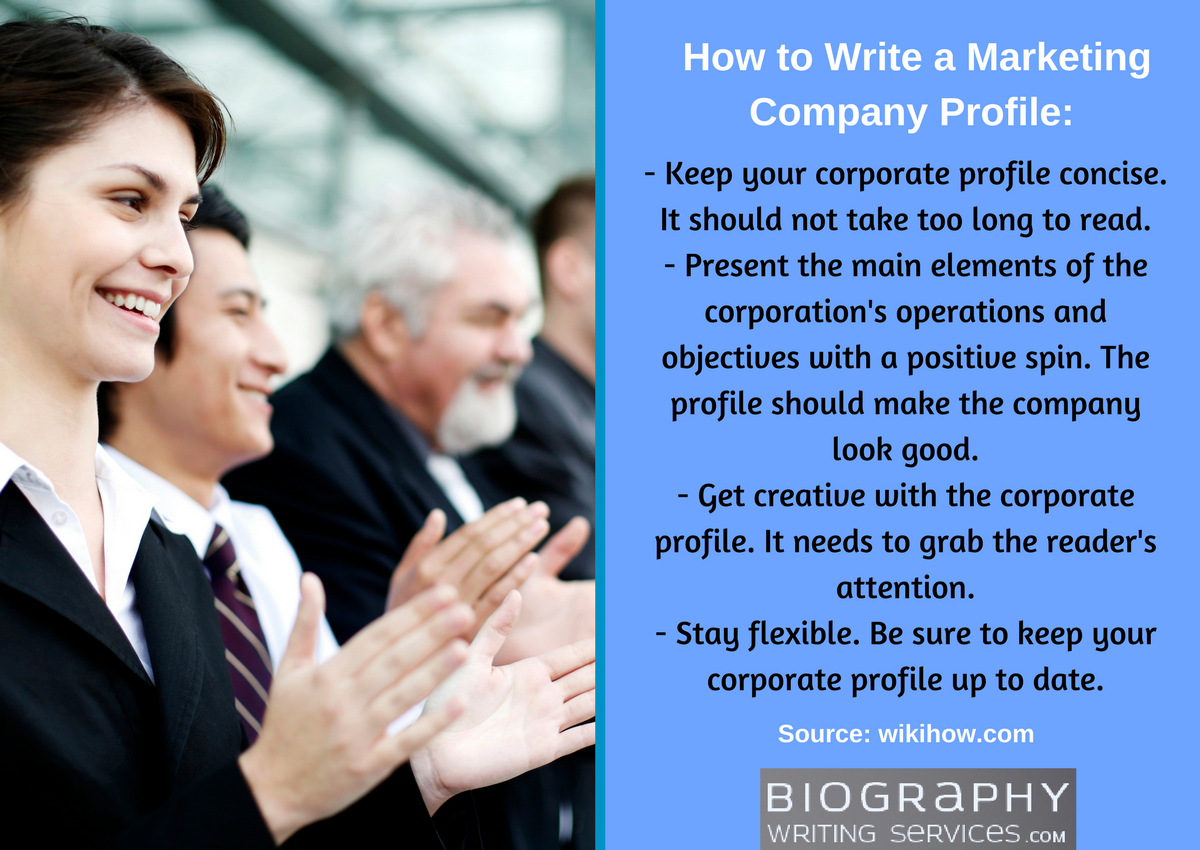 how to write a marketing company profile