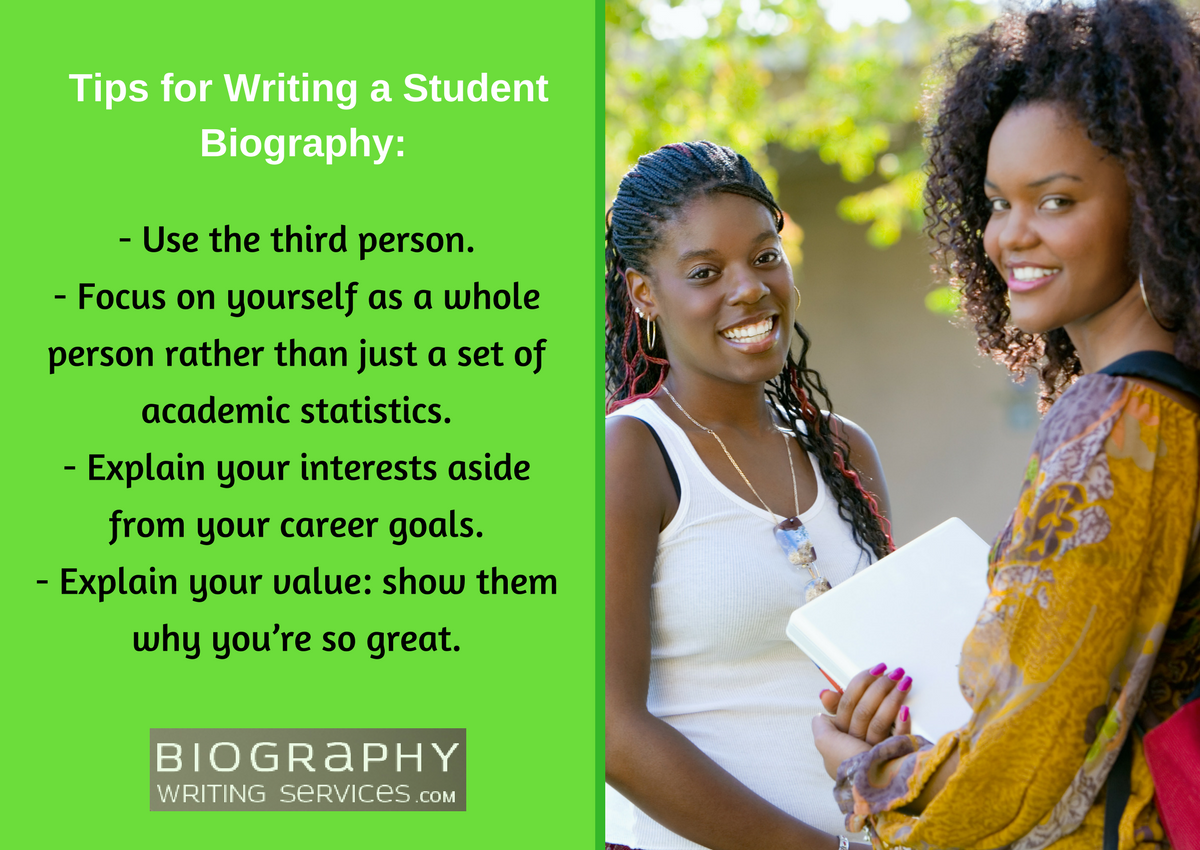 tips for writing a student biography