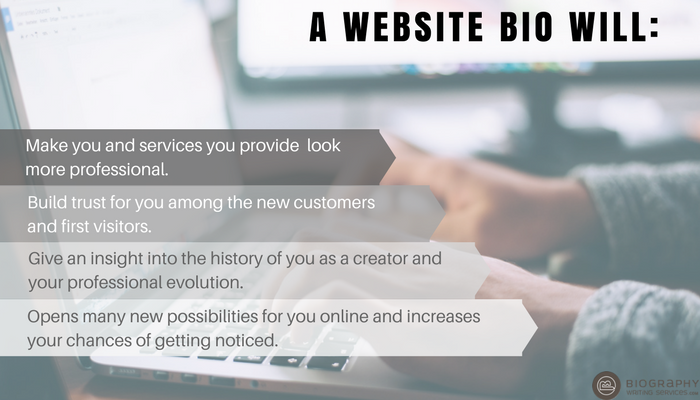 reasons to create a website bio