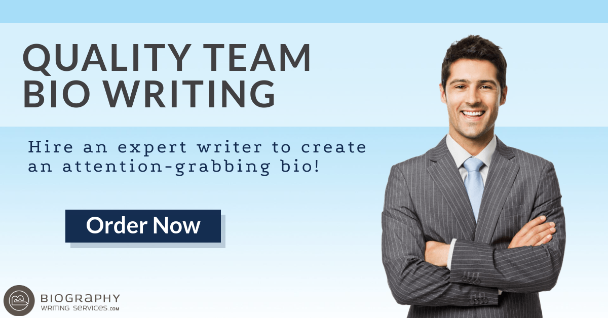 team bio writing service