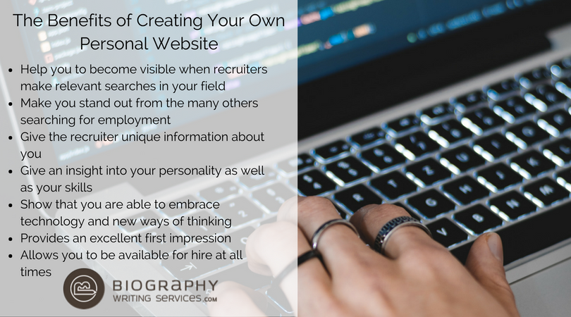 benefits of creating a personal website