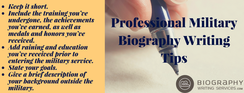 professional military biography writing tips