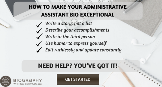 administrative assistant bio writing