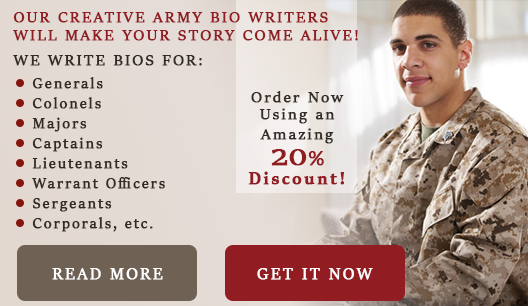 Military Bio Example Writing Tips Top Quality Help