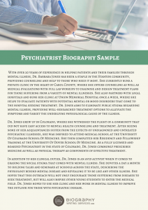psychiatrist bio sample