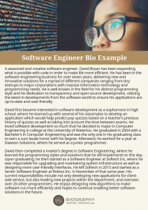 software engineer biography examples