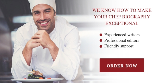 write a chef biography
