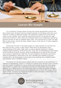 lawyer bio sample
