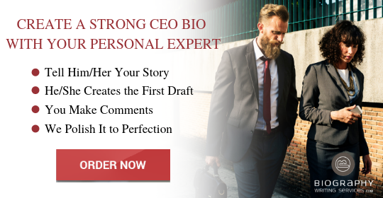 ceo biography writing service
