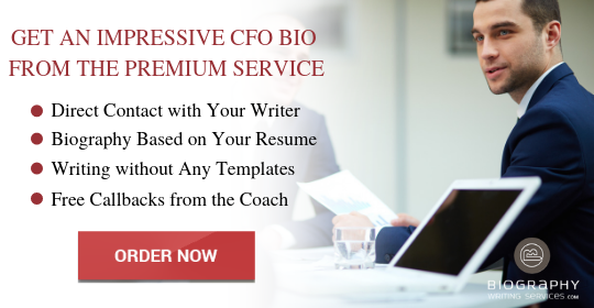 cfo bio writing service