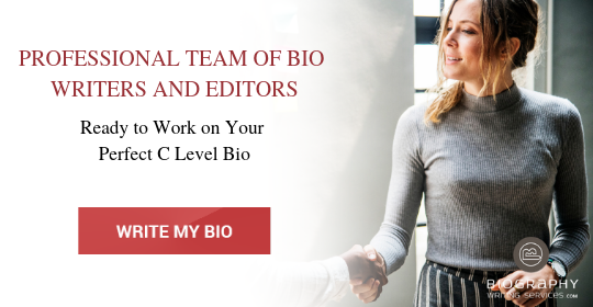 chief executive officer bio writing help